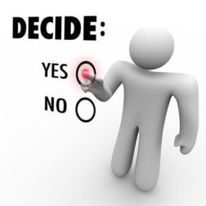 Decisions, decisions..