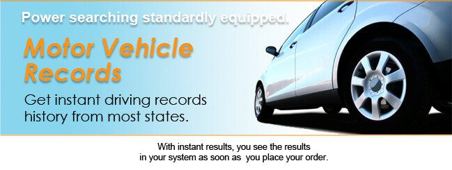 Driving records history dmvs mvrs for Motor vehicle driving record