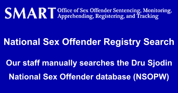 Sex offender registry search